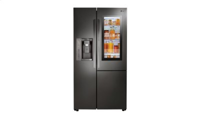 LG Black Stainless Steel Series 22 cu.ft. InstaView Door-in-Door® Side-By-Side Counter-Depth Refrigerator Product Image