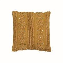 18X18 Hand Woven Raine Pillow Mustard