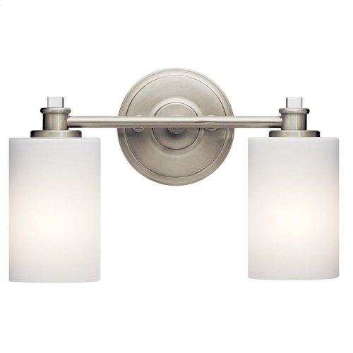 Joelson 2 Light Vanity Light Brushed Nickel