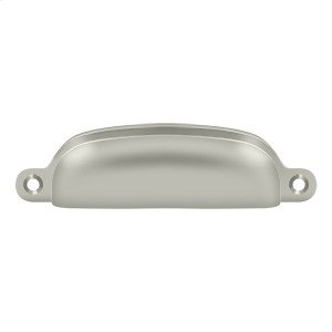 """Exposed Shell Pull 4"""" - Brushed Nickel"""