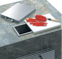 Countertop Trash Chute with Cutting Board & Cover (L18TS)