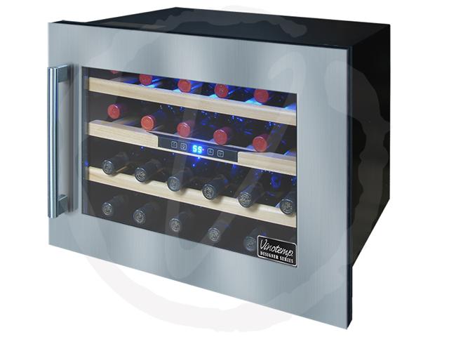 Vtds24wcwm Vinotemp 24 Bottle Seamless Wall Mounted Wine Cooler