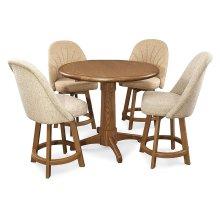 Table Base: Pedestal (chestnut)
