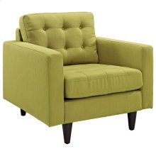 Empress Upholstered Fabric Armchair in Wheatgrass