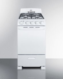 """20"""" Wide Gas Range In White With Sealed Burners; Replaces Rg200w"""