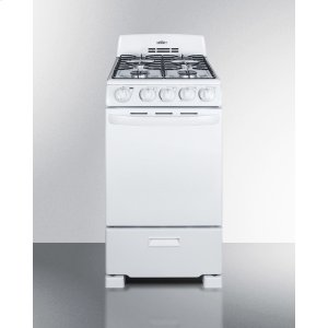 "Summit20"" Wide Gas Range In White With Sealed Burners; Replaces Rg200w"