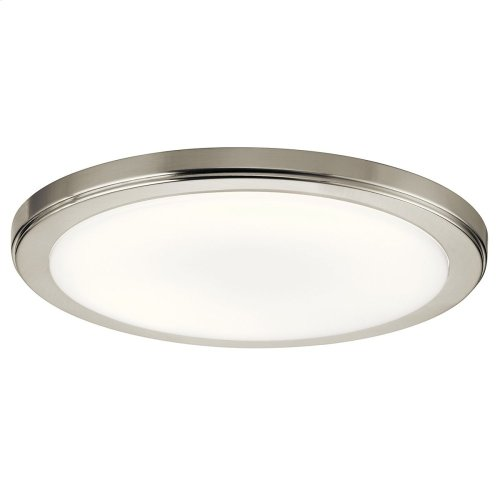 "Zeo 4000K LED 13"" Round Flush Mount Brushed Nickel"