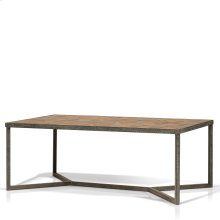Ripley Parquet Top Rectangular Coffee Table
