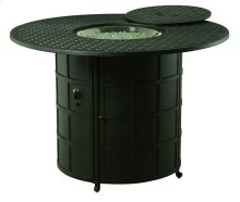 """Newport 54"""" Round Enclosed Counter Height Gas Fire Pit Table"""