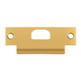 "ANSI T- Strike, 4 7/8"" x 1 1/4"", w/ Hole - PVD Polished Brass"