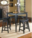 5PC Pack Dinette Set Black Sand-Through Finish Product Image