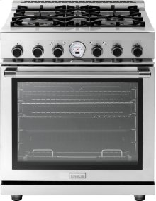 """Range NEXT 30"""" Panorama Stainless steel 4 gas, electric oven, self-clean"""