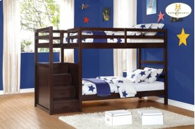 Bunk Bed with Step Storage