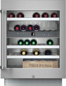 "Wine storage unit RW 404 761 under-counter, stainless steel framed glass door Width 23 5/8"" (60 cm)"