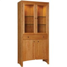Cherry Mirrored Back, Cherry Highlands Display Cabinet