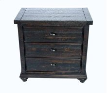 Mountain Retreat - 3 Drawer Nightstand Dk Brown Finish Overall No Mirror Accent