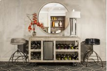 Bridgewater Server With Casters - Brushed Tan Wood