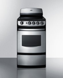 "20"" Wide Smooth-top Electric Range In Stainless Steel With Oven Window"