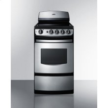 """20"""" Wide Smooth-top Electric Range In Stainless Steel With Oven Window"""