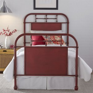 LIBERTY FURNITURE INDUSTRIESTwin Metal Bed - Red