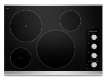 "30"" Electric Cooktop with 4 Radiant Elements - Stainless Steel"