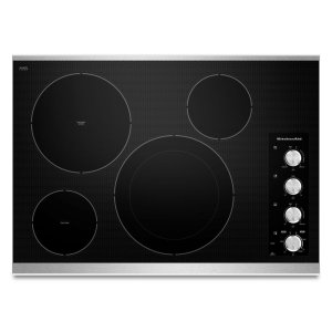 "Kitchenaid 30"" Electric Cooktop With 4 Radiant Elements - Stainless Steel"