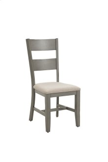 Upholstered Dining Chair (2/Ctn) - Linen/Weathered Gray Finish
