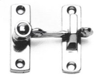Shutter & Bi-fold Door Latch (Spring Loaded) - Solid Brass in US26 (Polished Chrome Plated)