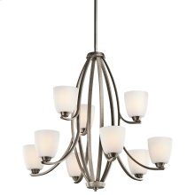 Granby Collection Granby 9 Light Chandelier - Brushed Pewter