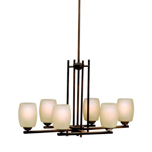 Eileen Collection Eileen 6 Light Chandelier -Chrome