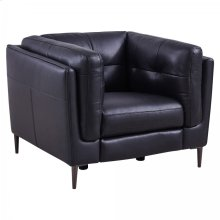 Primrose Navy Contemporary Top Grain Leather Power Recliner Chair with USB