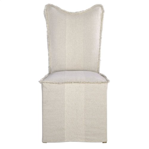 Lenore Armless Chairs, Flax, 2 Per Box