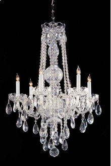 Traditional Crystal6 Light Crystal Chrome Chandelier