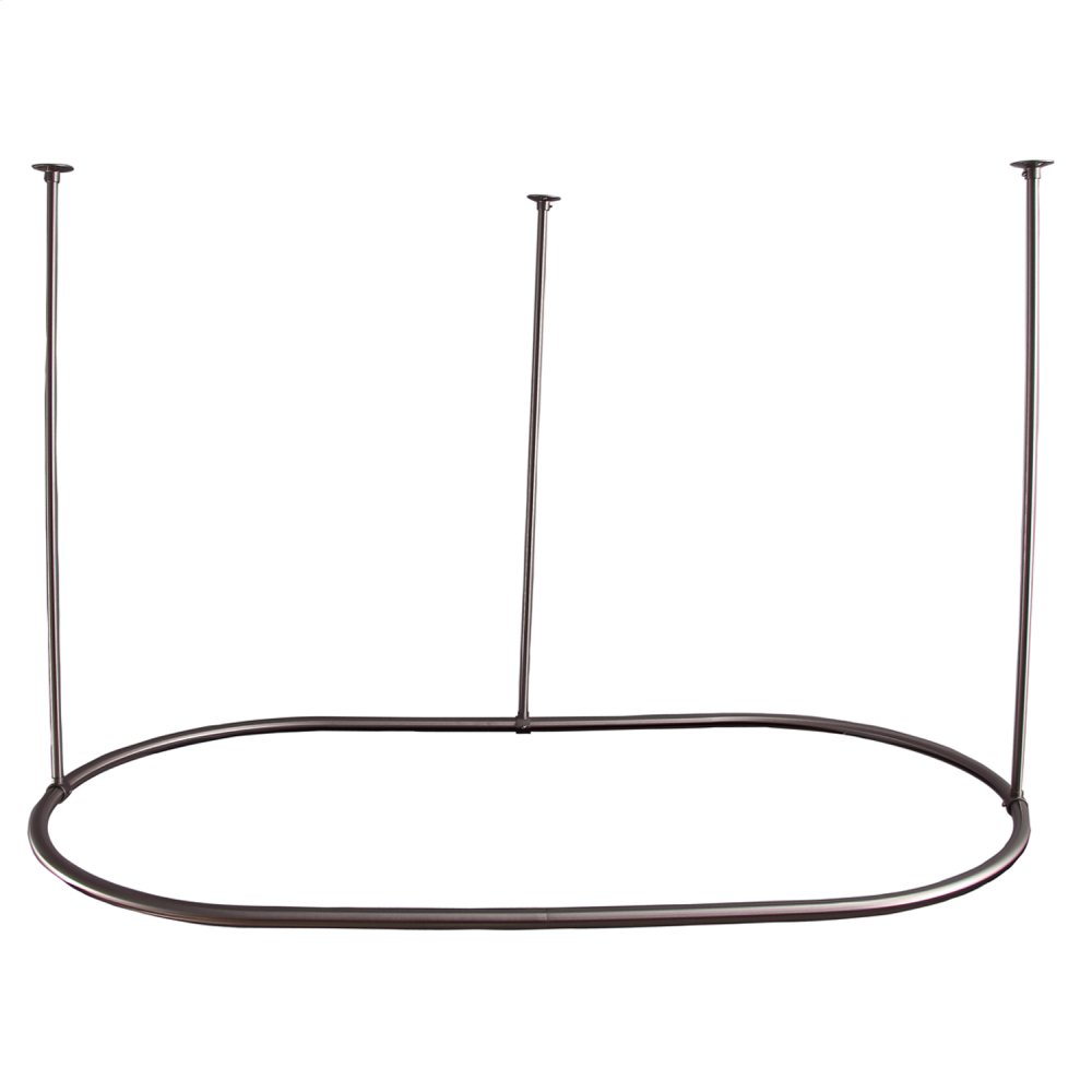 "Oval Shower Curtain Ring - 48"" x 30"" - Brushed Nickel"