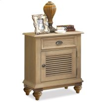 Coventry Shutter Door Nightstand Weathered Driftwood finish
