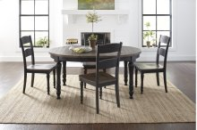 Madison County Round To Oval Table With 4 Chairs - Vintage Black
