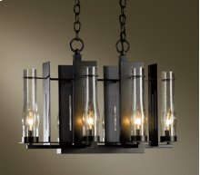 Chandelier: New Town six-light; includes canopy kit with 15' wire and 3' chain.