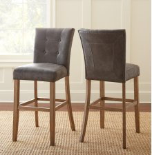 "Debby Bar Chair - Grey 19""x25""x45"" [1/2"" Memory Foam]"