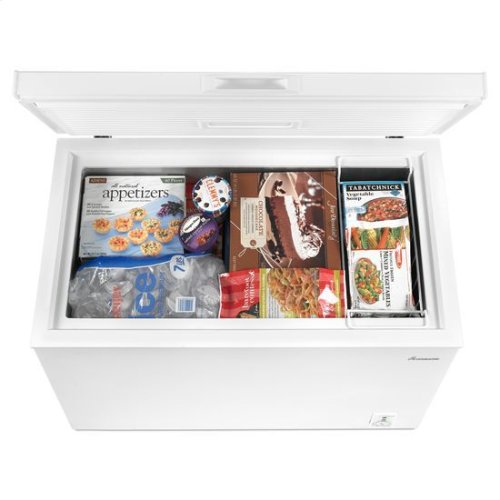 7.0 cu. ft. Compact Freezer with 1 Wire Basket - white