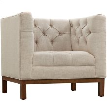Panache Upholstered Fabric Armchair in Beige