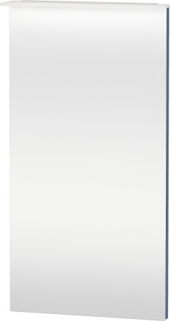 Mirror With Lighting, Stone Blue High Gloss Lacquer