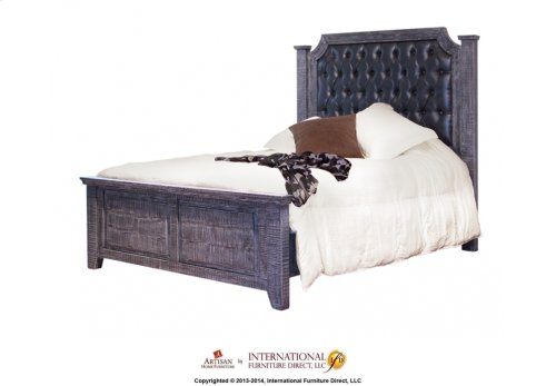 5/0 Upholstered Tufted Headboard w/Solid wood frame
