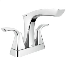 Chrome Two Handle Centerset Bathroom Faucet - Metal Pop-Up