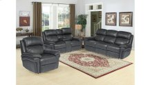 Sunset Trading Luxe Leather 3 Piece Reclining Living Room Set with Power Headrests