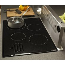 "Discovery 36"" Electric Cooktop, in Black Glass with Satin Trim"