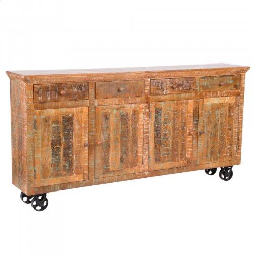 Mango Wood Mobile Storage Console