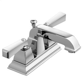 Town Square 2-Handle 4 Inch Centerset Bathroom Faucet - Brushed Nickel