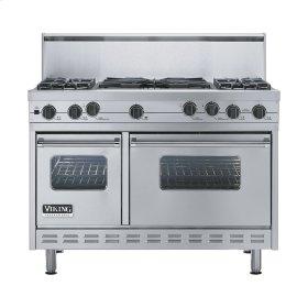 "Stainless Steel 48"" Sealed Burner Self-Cleaning Range - VGSC (48"" wide, four burners & 24"" wide wok/cooker)"