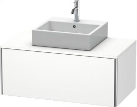 Vanity Unit For Console Wall-mounted, White Matt