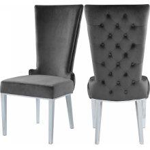 "Serafina Velet Dining Chair - 20.5"" W x 26"" D x 45"" H"